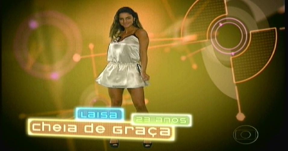 """Laisa foi apresentada como """"Cheia de Graça"""" no """"BBB12"""" (10/1/2012)"""