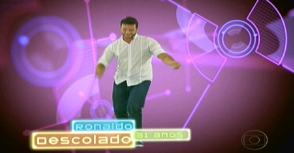 """Ronaldo foi apresentado como """"descolado"""" no """"BBB12"""" (10/1/2012)"""