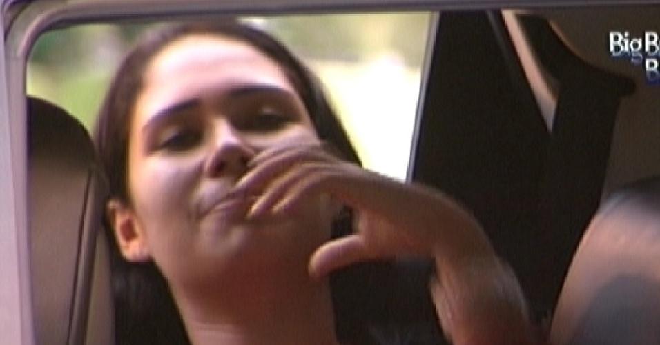 Com pouco mais de 20 horas de prova, Jakeline fala sobre comida (11/1/2012)