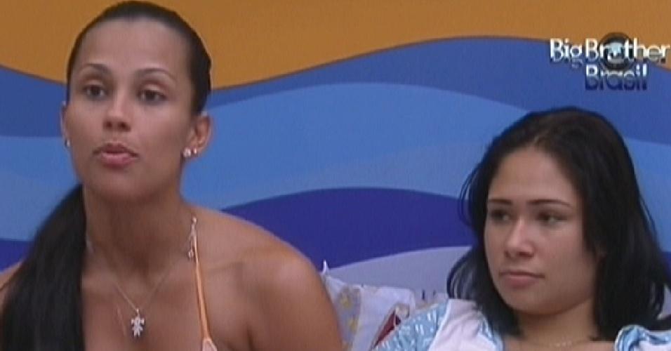 Sisters conversam no Quarto Praia sobre primeira eliminação (17/1/12)