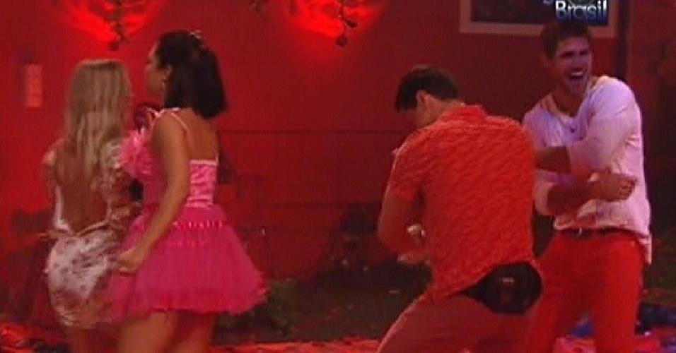 Brothers dançam na festa Rosas (18/1/12)
