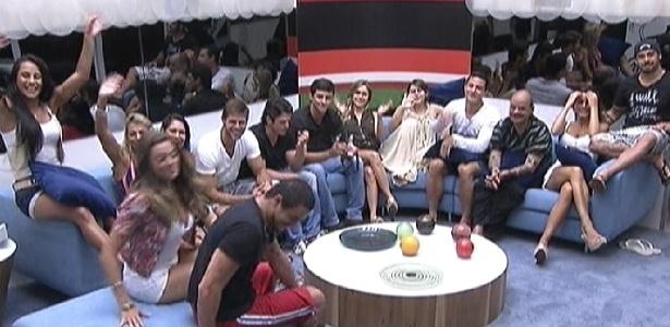 Reunidos na sala, brothers falam com Bial no programa ao vivo (20/1/12)