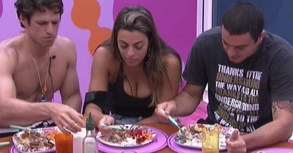 Brothers almoçam a comida preparada por Kelly e João Carvalho (23/1/12)