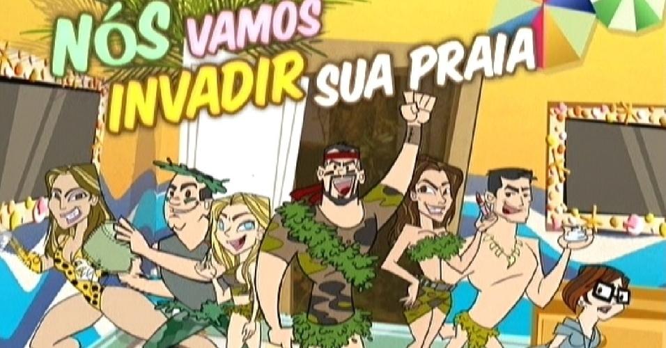 Animação mostra integrantes do quarto Floresta