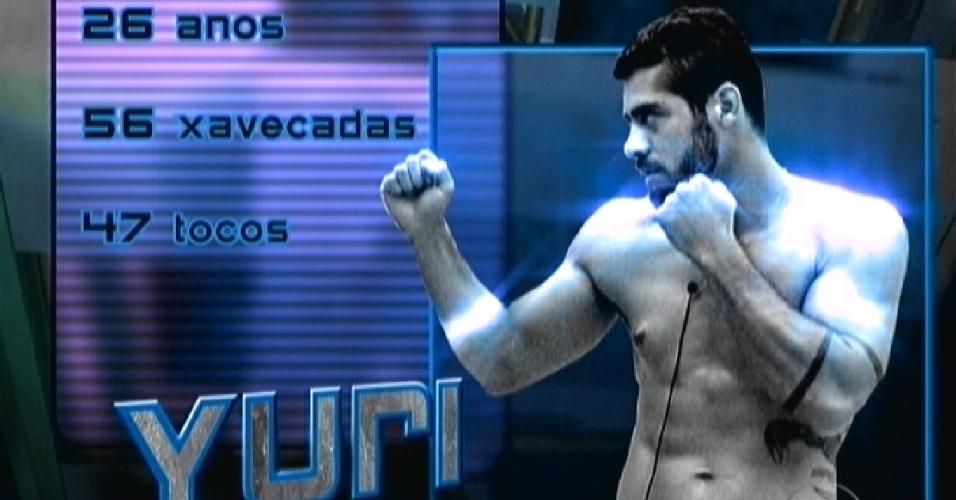 """Yuri é apresentado como um dos lutadores do """"UFB,BB"""" (24/1/12)"""