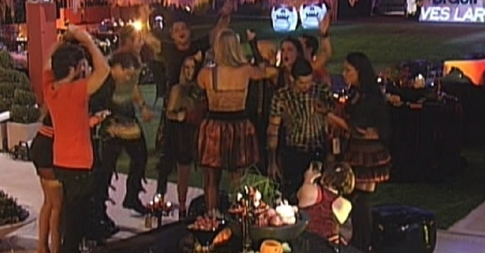 Brothers cantam parabéns para Fabiana (25/1/12)