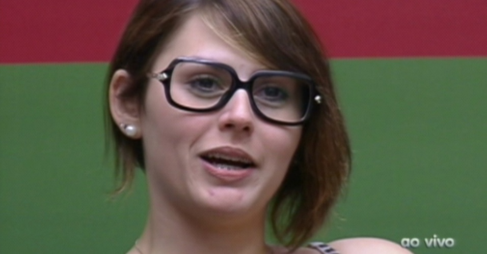Mayara fala para Bial sobre sua teoria de que mulher em abstinência sexual é pior que homem (26/1/12)
