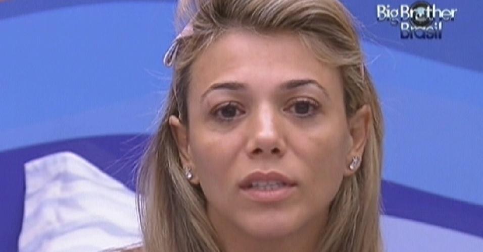 Fabiana chora ao se desentender com Fael (27/1/12)