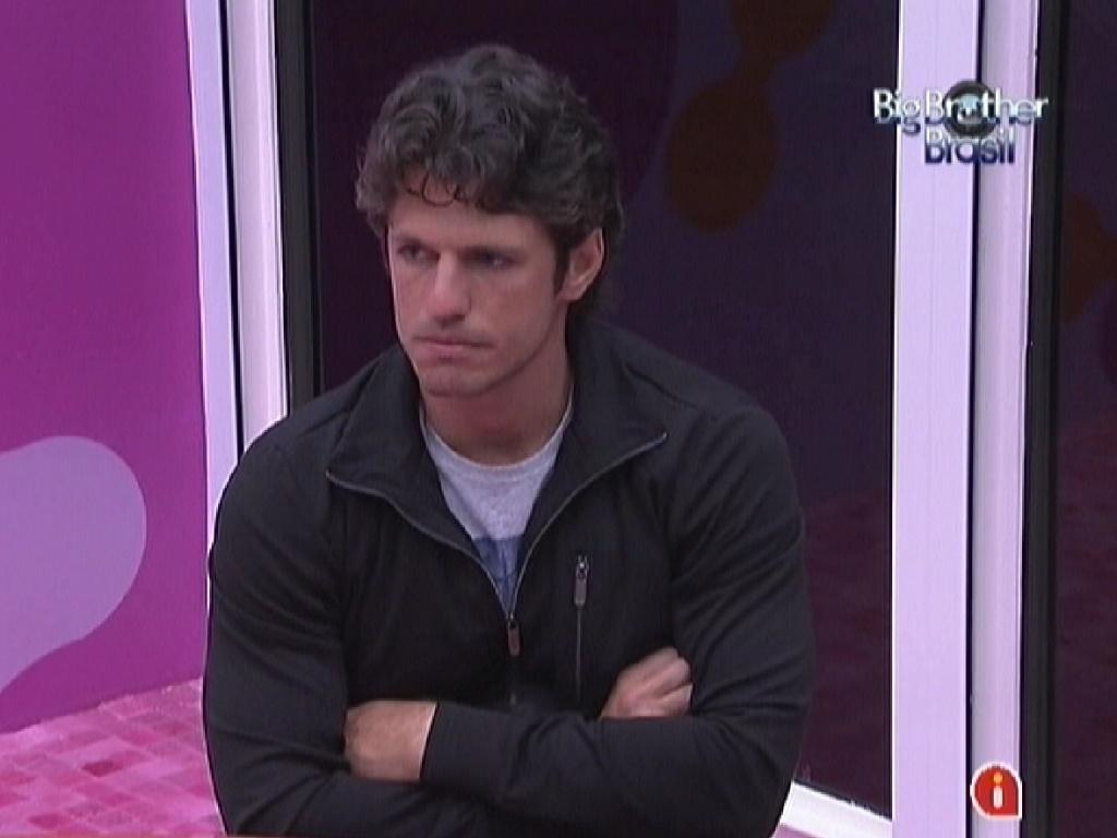 Preocupado, João Maurício conversa sobre formação do próximo paredão (27/1/12)