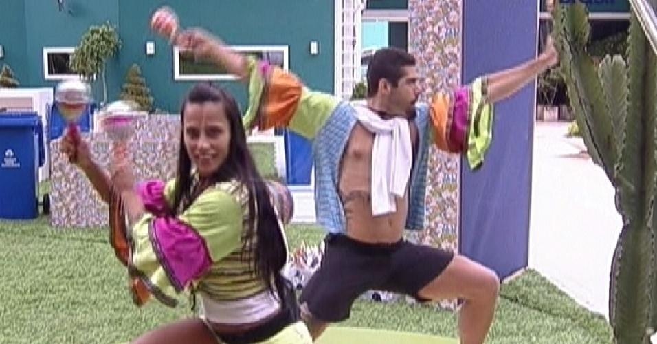 Música mexicana toca e Kelly e Yuri dançam para pagar o castigo do monstro (28/1/12)