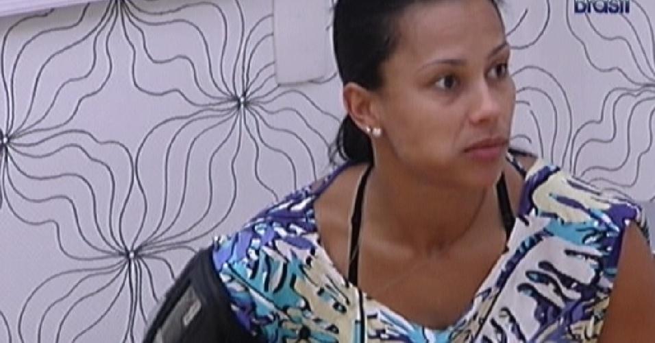 Kelly come no quarto do líder para aproveitar as últimas horas de Laisa na liderança (2/2/2012)