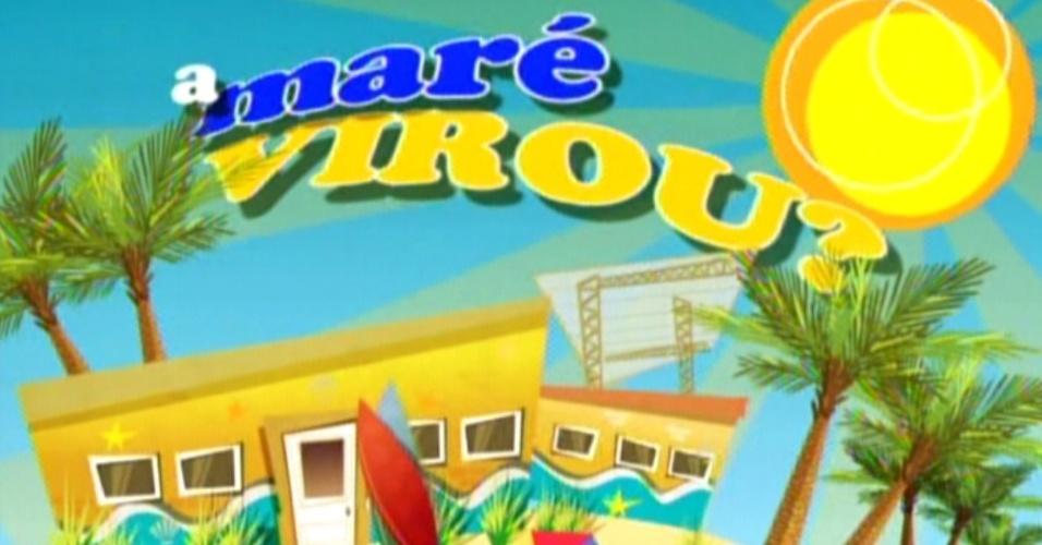 """Animação mostra o quarto Praia e a chamada """"A Maré Virou?"""" (7/2/12)"""