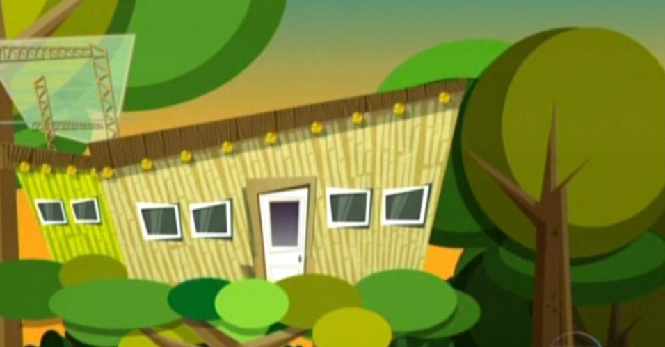 Animação mostrando o quarto Floresta (7/2/12)