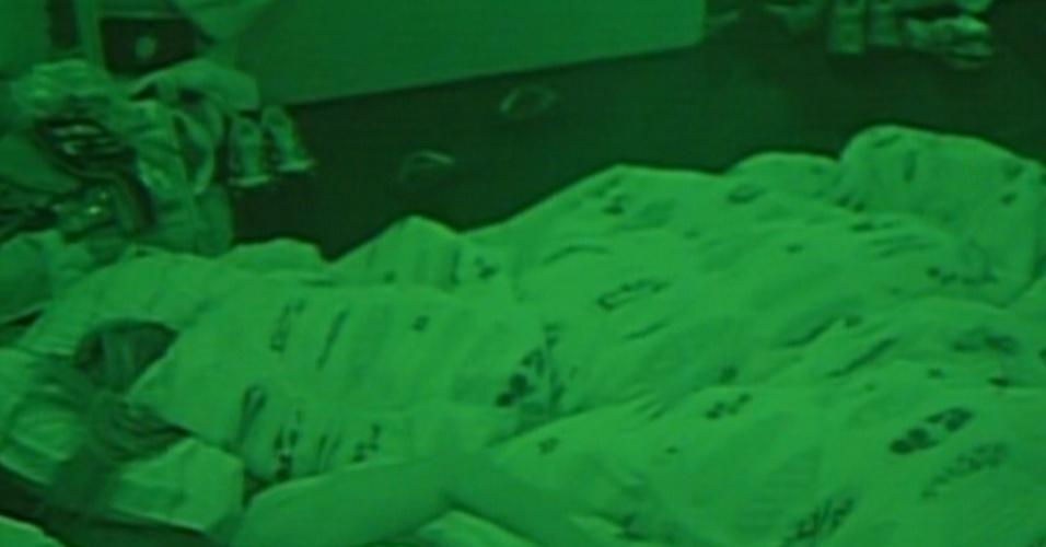 Após liderança de Laisa, brothers dormem (9/2/12)