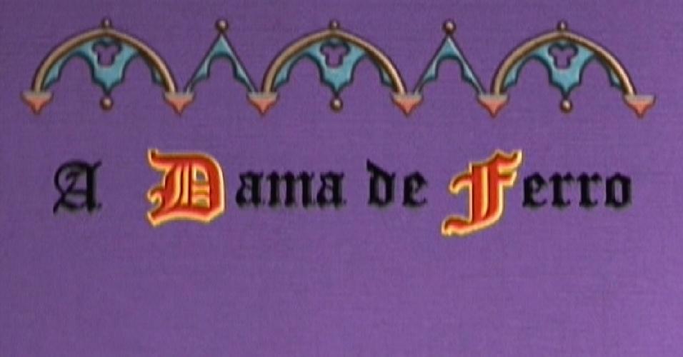 """""""A Dama de Ferro"""", livro de Laisa pela edição do programa (14/2/12)"""