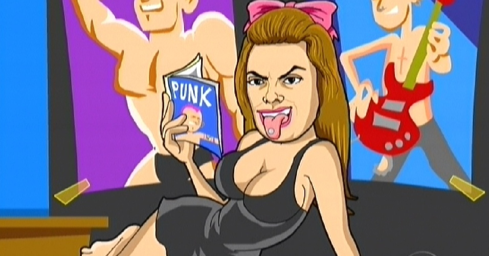 Monique é a protagonista do filme do dia da eliminação (14/2/12)