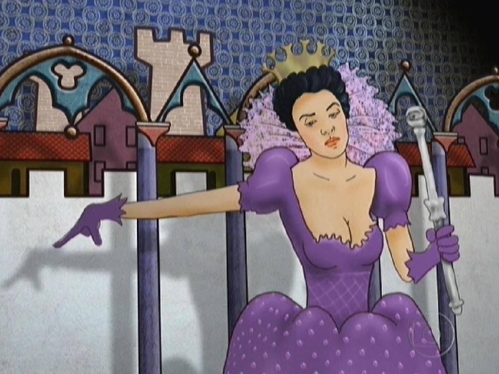 Animação mostrando a rainha Laisa (14/2/12)