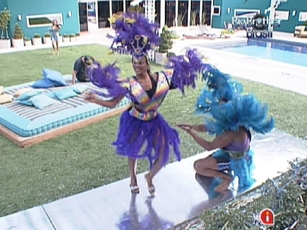 Fabiana e Jonas sambam no castigo do monstro (18/2/12)