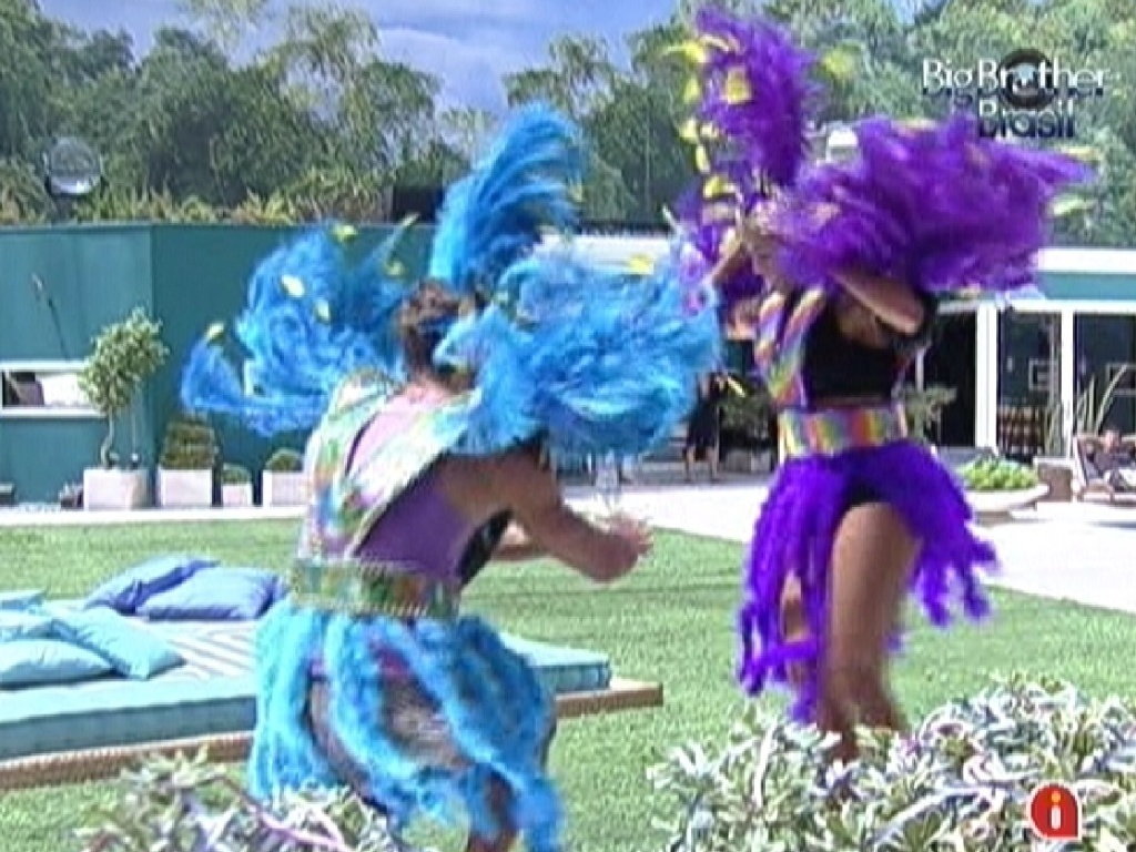 Jonas e Fabiana sambam no castigo do monstro (18/2/12)