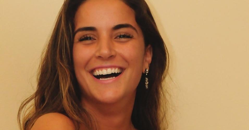 """Laisa fala com a imprensa após ser eliminada do """"BBB12"""" (21/2/12)"""