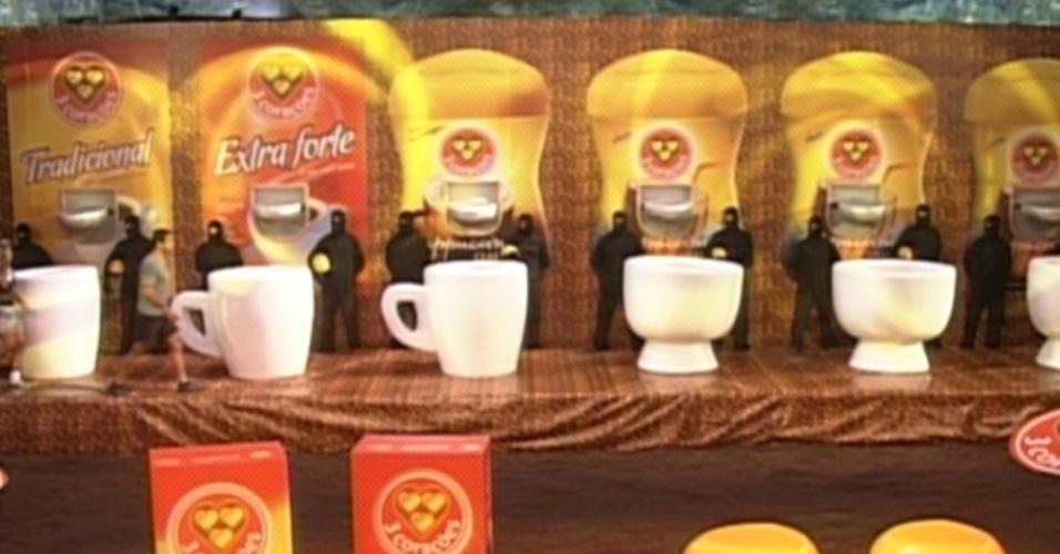"""Prova de resistência é patrocinada pela marca de café """"3 corações"""" (23/2/12)"""