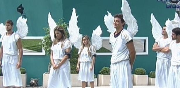 Brothers participam da prova do anjo (25/2/12)