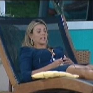 A líder Fabiana disse que sua justificativa da indicação ao paredão será forte (26/2/12)