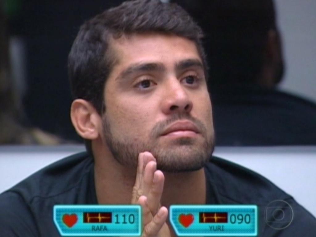 Yuri ouve o discurso de Pedro Bial em seu paredão contra Rafa (28/2/12)