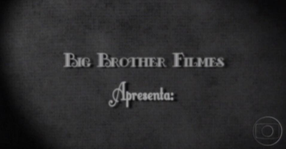 Aproveitando o clima do Oscar, a produção fez um quadro inspirado no cinema mudo (28/2/12)