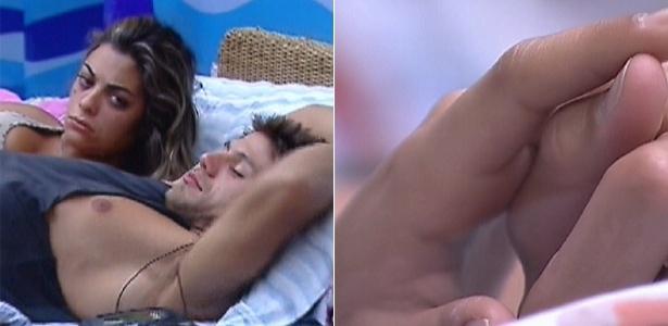 Monique e Jonas acordam abraçados e de mãos dadas (1/3/12)