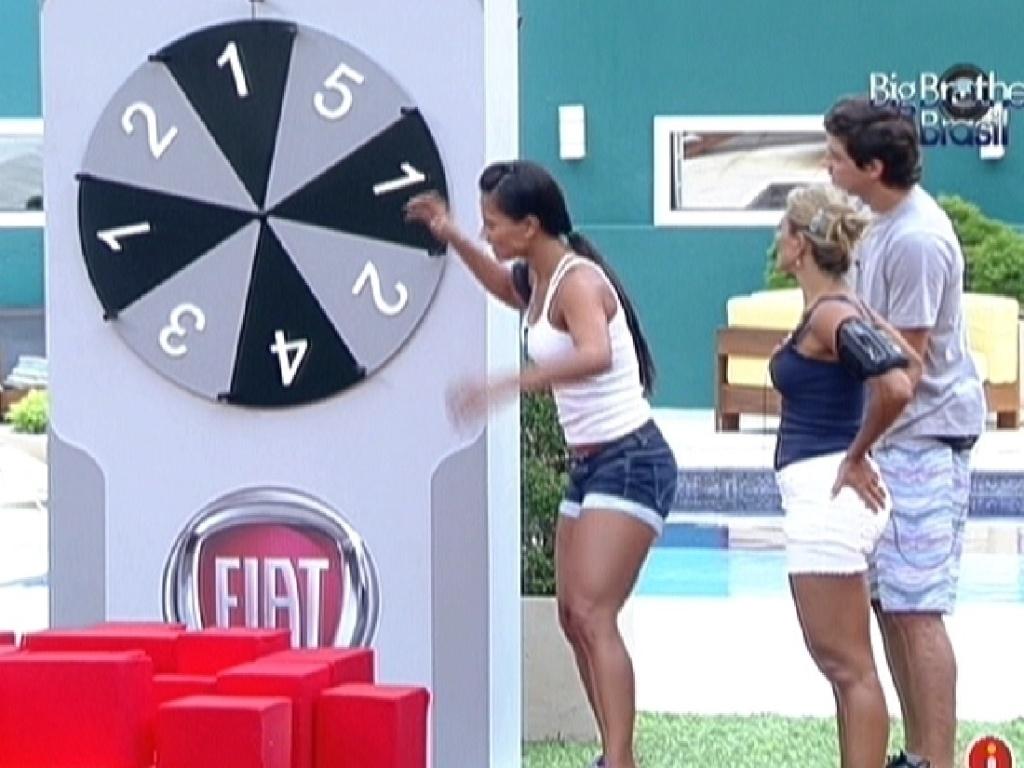 Kelly, Fabiana e Fael formam o grupo vermelho da prova da comida (4/3/12)