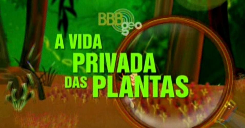 """Edição destaca o programa: """"A vida privada das plantas"""" (6/3/12)"""
