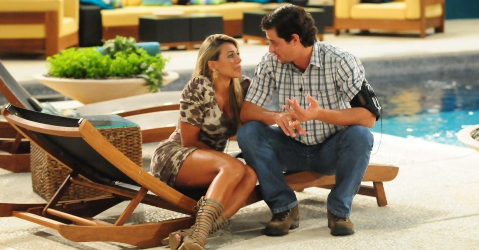 Fabiana e Fael conversam após eliminação de Rafa (29/2/12)
