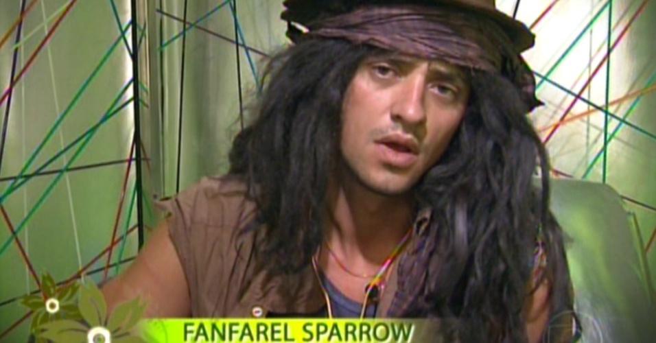"""Fael analisa a """"planta"""" Kelly e é mostrado na edição como floricultor e pirata (6/3/12)"""