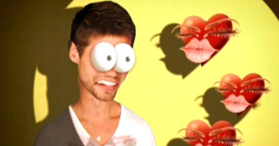 Jonas aparece como galã na edição do programa (6/3/12)