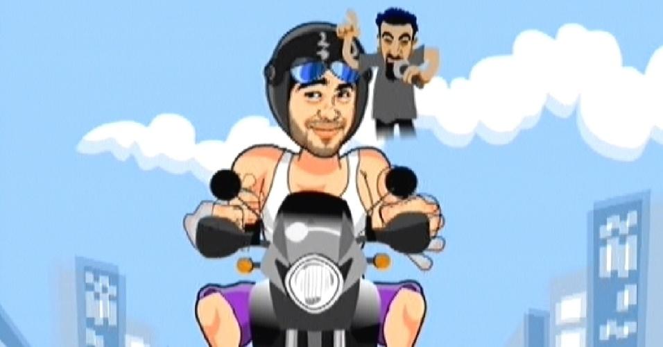 """O goiano disse que quando anda de moto, sempre ouve """"System of a Down"""", banda americana formada em 1992 (7/3/12)"""