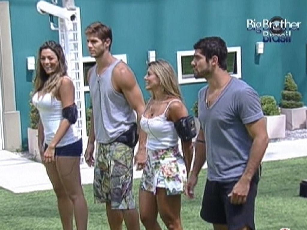 Monique, Jonas, Fabiana e Yuri são sorteados para prova do anjo (10/3/12)