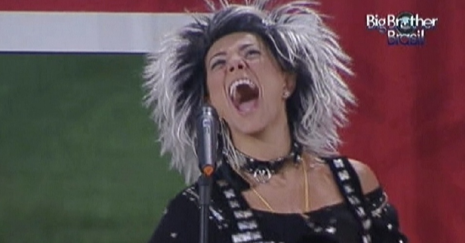 Mais uma vez a música toca e Fabiana cumpre o castigo do monstro (11/3/12)