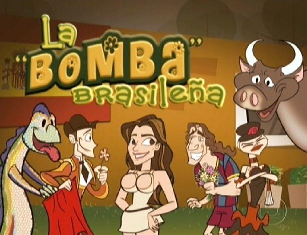 "Com direito a vinheta e o título de ""a bomba brasileira"", Laisa voltou ao ""BBB12"" pela porta do ""Gran Hermano"""
