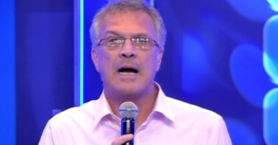 """Bial anuncia o encerramento das votações da nona eliminação do """"BBB12"""" (13/3/12)"""
