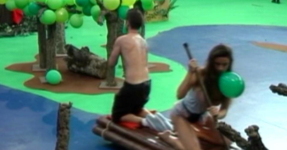 Os participantes do reality espanhol precisam realizar atividades características da cultura brasileira (12/3/12)