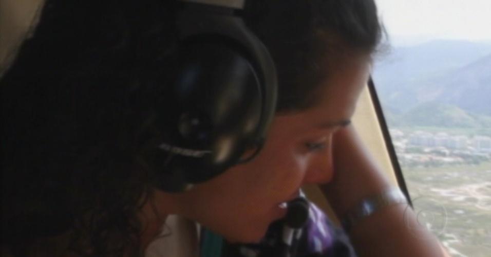 Noemí chora ao ver Rio de Janeiro do alto (18/3/12)