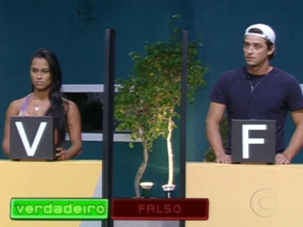 Kelly e Fael ouvem atentos as perguntas de Pedro Bial (19/3/12)
