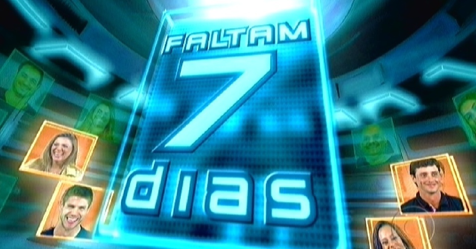 A abertura do programa ao vivo desta quinta-feira mostrou a contagem regressiva para a final do programa (22/3/12)