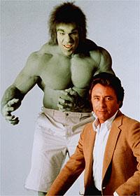 Lou Ferrigno, como Hulk, e Bill Bixby, como o David Banner
