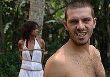 O mutante-vampiro Vlado captura Rosana, que não resistirá