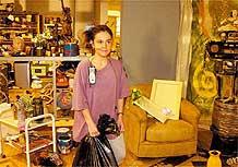 Cláudia Rodrigues como Marinete, em cena do programa <i>A Diarista</i>