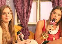 A <i>princesa</i> Loredana ao lado da apresentadora Daniella Cicarelli