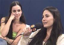 Miriam Freeland e Carla Regina durante entrevista para a TV UOL