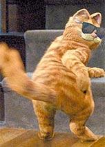 Cena de <i>Garfield</i>, filme baseado no famoso gato dos quadrinhos